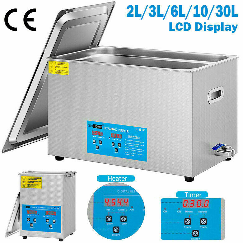 2/3/6/10/30L Ultrasonic Cleaner Cleaning Machine Touch Controllable Heater Timer