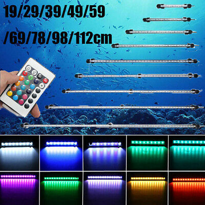 LED RGB Submersible Light Bar Fish Tank Waterproof Light Lamp SMD Blue White - Submersible Led