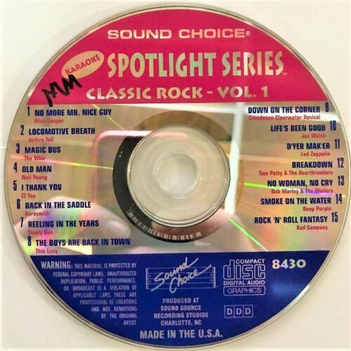 SOUND CHOICE KARAOKE SPOTLIGHT CD+G - 8430 - CLASSIC ROCK VOL 1 - CDG