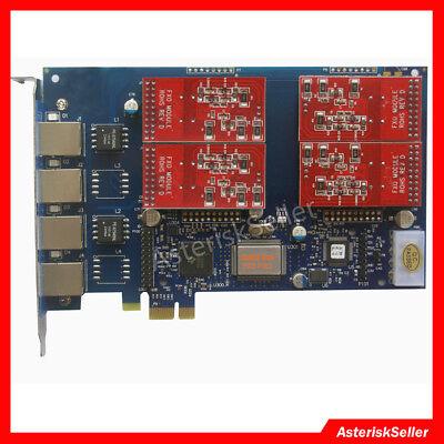 FXS FXO Card TDM410 4 FXO Ports,PCI-E,FreePbx,Issabel Dahdi asterisk Card aex410