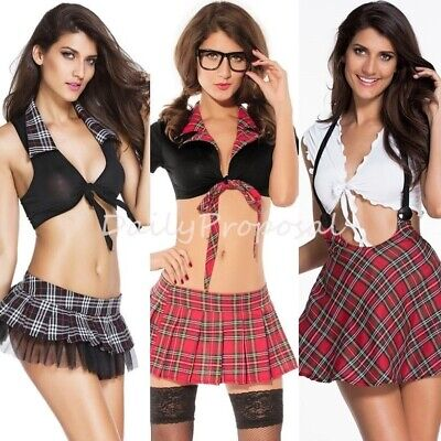 Dear Lover Halloween Costumes (Sexy Student Top & Skirt Adult Women Halloween Costume Br Role Play USA 4+)