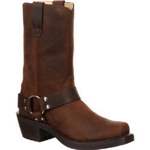 Mens, DURANGO, Western, Cowboy, Distressed, Brown, Leather, Harness, Boots, DB594, NIB