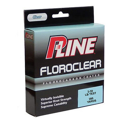 (P-Line Floroclear Clear Fishing Line 260-300 Yards Bass & Trout Fishing Lure)