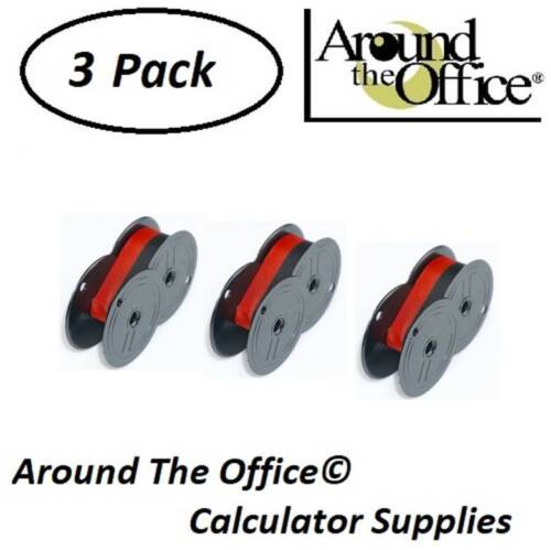 ROYAL Model 1414-P Compatible Calculator RS-6BR Twin Spool Black & Red Ribbon
