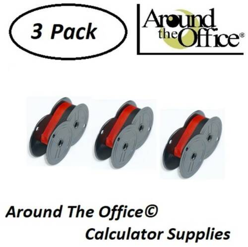 ROYAL Model 12-P Compatible Calculator RS-6BR Twin Spool Black & Red Ribbon