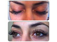 Mink eyelashes extensions £45!