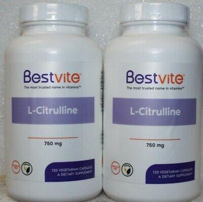 BestVite L-Citrulline 750 mg Dietary Supplement - 240 Capsules  750 Mg 240 Capsules