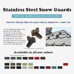 Snow/Ice Stop/Guard for Metal Roofs Colour Matched