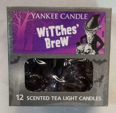 Yankee Candle WITCHES BREW Box of 12 Scented Tealights Tea Light Black Patchouli