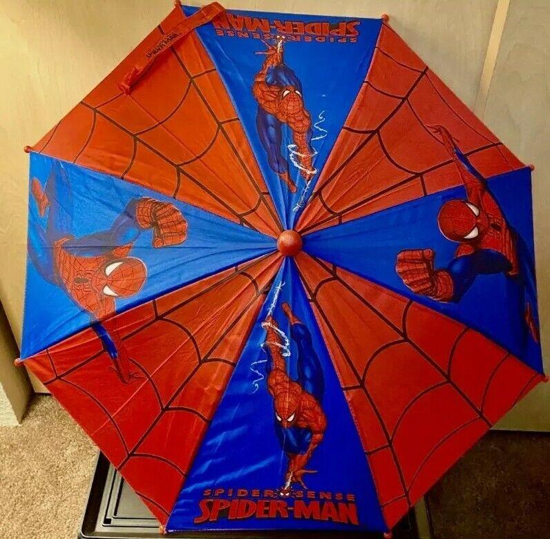 Kid's Boys Spiderman Umbrella ~Red Blue Black
