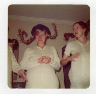 Pippi Longstocking Costumes (Vintage Photo Costume Party Young Women Dressed As Pippi Longstocking 1960's)