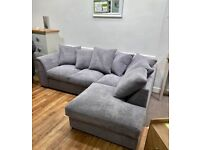 HOT SALE WITH SUPPER FAST DELIVERY DYLAN BROKEN CORD CORNER & 3+2 SOFA SET AVAILABLE IN STOCK