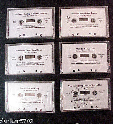 6 AMWAY MOTIVATIONAL CONTINUING DISTRIBUTOR EDUCATION AUDIO CASSETTES - #10