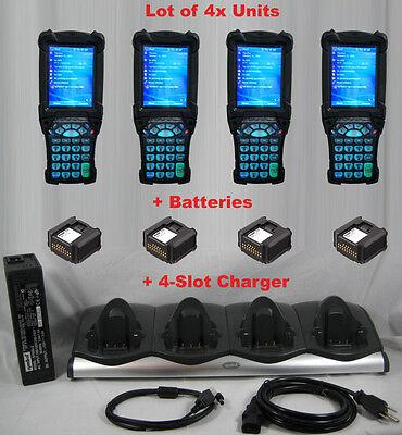 Lot 4x Symbol Motorola Zebra Mc9090 Laser 1d Barcode Scanner Reader Charger