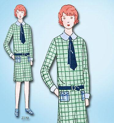 1920s Jahre Vtg Butterick Nähmuster 2190 Uncut Kleine Mädchen Flapper Kleid