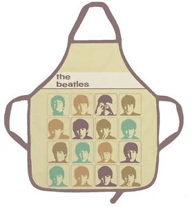 THE-BEATLES-HARD-DAYS-NIGHT-RETRO-KITCHEN-APRON-CHEF-OFFICIAL-NEW-WITH-TAGS
