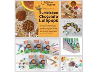 Make your own chocolate lollipops great activity for the kids to do.