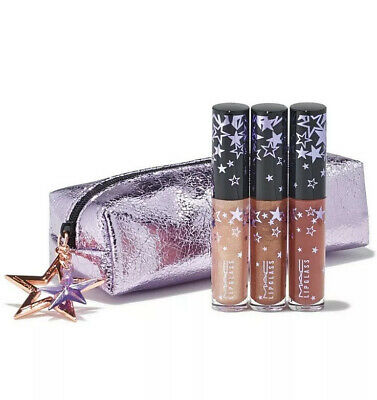 MAC Lucky Stars Neutral Mini Lipglass Set for sale  Shipping to India