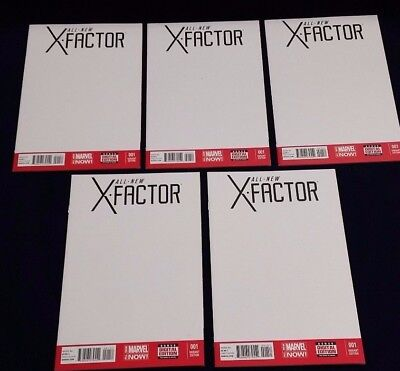 The All New X Factor   1   Blank Cover Variant   Five  5  Comic Lot  Nm