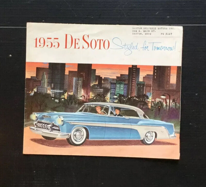 1955 DeSoto STYLED FOR TOMORROW, BROCHURE NICE!!