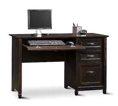 Sauder Computer Desk Office Home Student Furniture Desks Wood Antiqued Black
