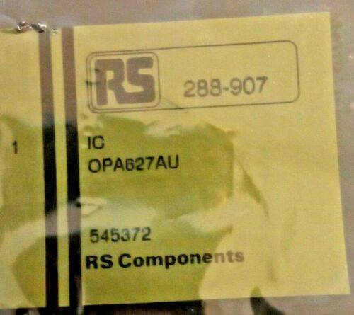 OPA627AU operational amplifier 16MHz RoHS