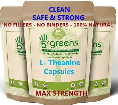 L Theanine 350mg Veg Capsules No Fillers Strong Safe Effective Best L Theanine