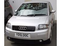 2001 Audi A2, very reliable, only 90K miles 1.4TDi, 12 mth MOT, full service just done. Ready to go