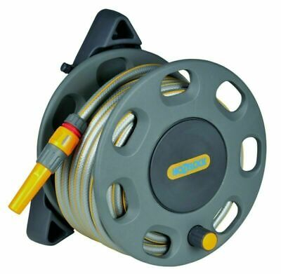 30m Freestanding Reel with 25m of Hose Compact Hozelock Garden Water Pipe New