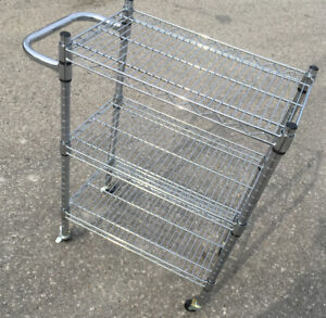 Excellent Industrial kitchen Wire rolling Cart SEE VIDEO