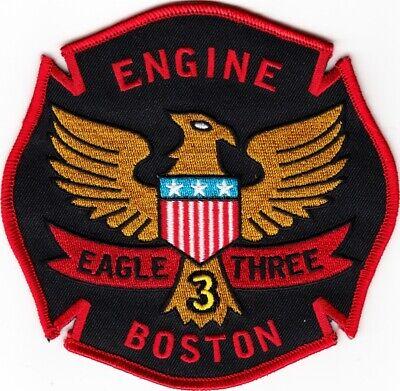 MASSACHUSETTS  -  BOSTON  FIRE  DEPARTMENT   ENGINE  3     Patch