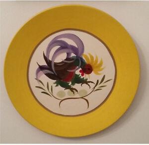 Coq - Assiette en bois peinte par Paul Vanier Beaulieu