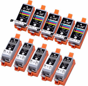 NEW- INK CARTRIDGES FOR CANON Pixma IP100 WITH CHIP