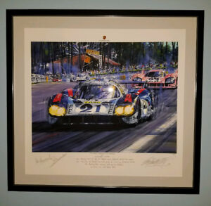 """Litho of """"THUNDER THROUGH THE ESSES"""" Signed"""