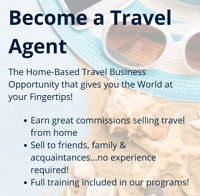 Become a Home Based Travel Agent - message me for more details
