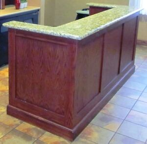 Bar with Granite Counter & Hutch - Beautiful - Nice Pieces Cambridge Kitchener Area image 2