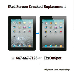 iPad Mini 1/2/3 Screen Cracked Replacement $65