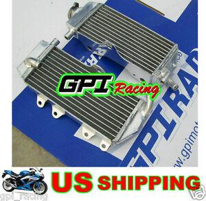 GPI Racing R&L RADIATOR fit Yamaha YZ125 YZ 125 02-04 03 2002 2003 2004