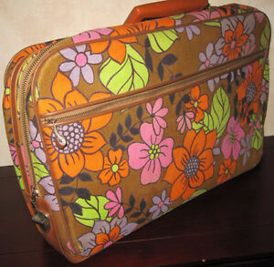 Vintage Suitcase and Carry-On Bag