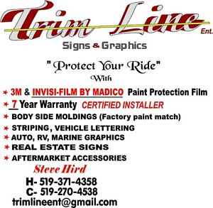 Paint Protection Film  / Moldings / Lettering / Signs.