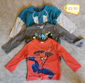 3 X boys 18-24 month long sleeved tops