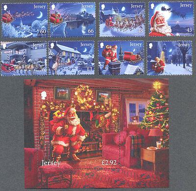 Jersey-Christmas 2016 mnh Father Christmas-set and Min sheet