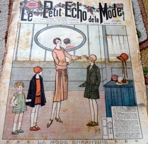 *VTG 1920s PARIS FASHION & SEWING PATTERN CATALOG LE PETIT ECHO de la MODE 1927
