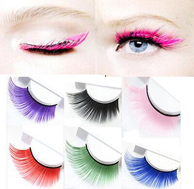 Colorful Fashion Thick Long Fake Eyelashes Costume Party Exaggeration Eye Lashes