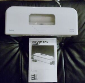 Salton Vacuum Bag Sealer, like new, complete with instructions