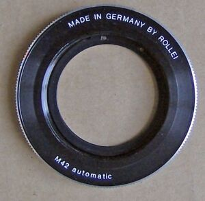 ROLLEI,ADAPTER RING,ROLLEI to M42,made in Germany,M42 automatic
