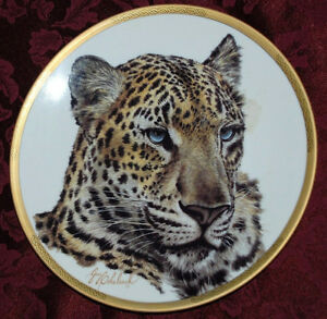 Chinese LEOPARD COLLECTIBLE PLATE, Wild Animals LENOX, P87