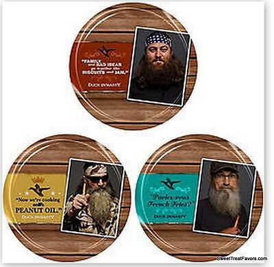 DUCK DYNASTY PLATES Decoration Party Supplies Favors camuflaje Army Lunch Green