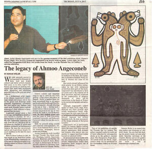 Ahmoo Angeconeb original as seen in Chronicle Journal