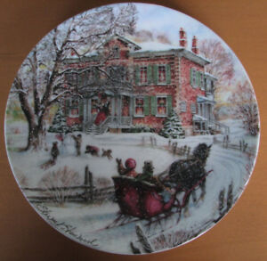 Coming Home - Victorian Christmas Collector Plate w/Box and COA
